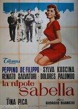 manifesto 4F originale LA NIPOTE SABELLA Sylva Koscina Tina Pica 1958