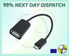 Micro USB Female OTG Adapter Cable for BlackBerry Storm2 9520 9550 Oden