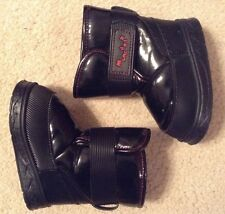 EUC! Girl Toddler Munchkin By Stride Right Black Fleece Lined Boots Sz 7
