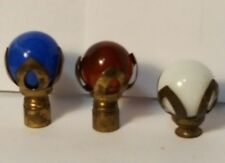 Vintage marble glass lamp finials