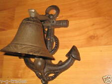 WORKING CAST IRON MARITIME SHIP BELL NAUTICAL ANCHOR SAILING BOAT DECOR - NEW