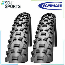 "2x SCHWALBE NOBBY NIC 26"" x 2.25 PERFORMANCE SERIES MOUNTAIN BIKE TYRES (1 PAIR)"