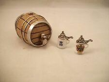 Beer Barrel w/ Steins 1.802/8  miniature dollhouse furniture 1/12 scale Reutter