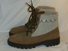 """Rare LL Bean Cater 100% Virgin Wool 7.5"""" Boots Made in Italy Size US 10 M EU 43"""