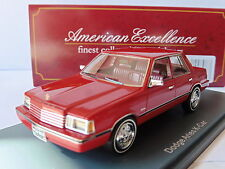 DODGE ARIES K CAR RED 1983 NEO 44898 1/43 ROUGE ROSSO ROT AMERICAN EXCELLENCE