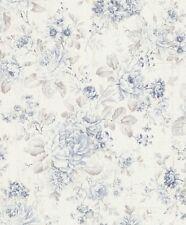 Tapete Vintage Blumen Rasch Pure Vintage Vliestapete weiß blau 516012 (2,99€/1qm