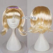 Bob Style Short Ladies Flick Wig Blonde Beehive Wig Fancy Dress Party Hair