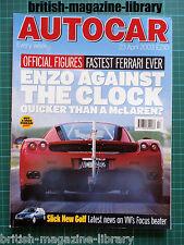 Autocar 23/4/2003 - Ferrari Enzo - E55 vs BMW E39 M5 vs Jaguar XJR vs RS6 Avant