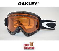 OAKLEY® O-FRAME® SNOW BOARD SKI GOGGLES GLOSS BLACK PERSIMMON DUAL PANE LENS NEW