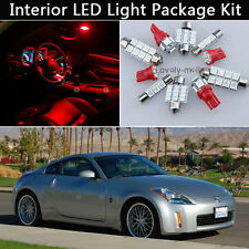5PCS Bulbs RED LED Interior Car Lights Package kit Fit 2003-2008 Nissan 350Z J1