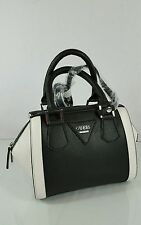 NEW GUESS COAL MULTI WHITE SMALL CROSS BODY SATCHEL TOTE HANDBAG PURSE NWT