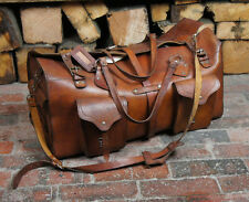 Impresive Full Leather Vintage Travel Kit Bag Clean interior