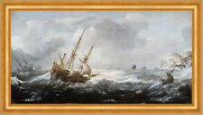 Ships in a Storm on a Rocky Coast Jan Porcellis Schiffe Sturm Boote B A3 02439