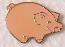 Hat Lapel Pin Scarf Clasp Animal Pig Pink NEW