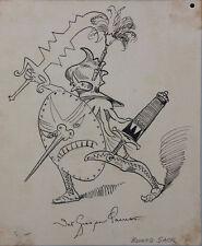 Eduard Sack (1857-1913) ? - Karikatur Federzeichnung
