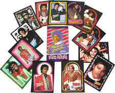 Michael Jackson Autocollants TOPPS GIANT Stickers COMPLETE Collection Cards 1984