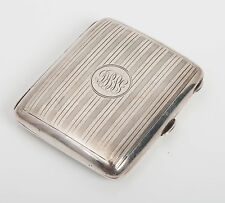 Antique Art Deco Solid Silver Cigaretter Case, Birmingham 1919
