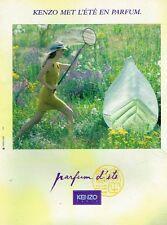 Publicité advertising 1992 Parfum d'été par Kenzo