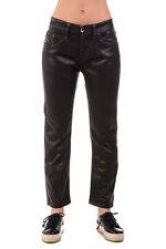 DIESEL BLACK GOLD Size 26 Women's TYPE-150 Coated Cropped Boyfriend Jeans POPPRI