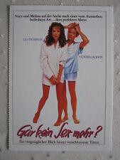 Filmplakatkarte  videoplus  Gar kein Sex mehr ? Lea Thompson,Victoria Jackson