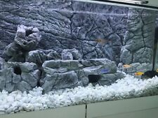 "AQUARIUM BACKGROUND 3D THIN GREY  FOR TANK SIZE 55/75g,  48x21""  EASY TO INSTALL"