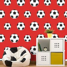GOAL! FOOTBALL WALLPAPER RED 9720 BELGRAVIA DECOR KIDS BOYS BEDROOM