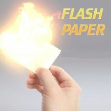 Magic Flash Paper (WHITE) 5 Sheets Pack Nitrocellulose (25*20) Paper Sheet Trick