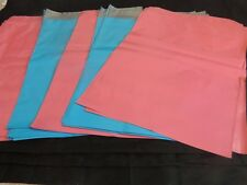 20 Pink and Blue 12x15 Flat Poly Postal Mailer Envelopes, Self Sealing USPS Bag