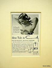 Vintage Advertisement mounted ready to frame bless Talc de Coty