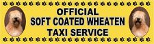 SOFT COATED WHEATEN TERRIER OFFICIAL TAXI SERVICE Dog Car Sticker  By Starprint