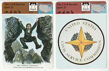THE CIVIL SERVICE COMMISSION Government Jobs Seal Logo STORY OF AMERICA 2 CARDS