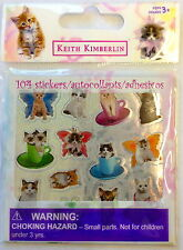 104 Keith Kimberlin Kitty Cat  Stickers Party Favors Teacher Supply Kitten