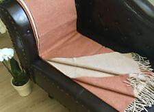 Wollplaid doppelseitig mit Kaschmir Anteil, Sofadecke 135x175  cm 100% Wolle