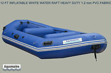 12 FT  INFLATABLE WHITE WATER RAFT  RIVER WHITEWATER HEAVY DUTY BOAT 1.2 mm PVC