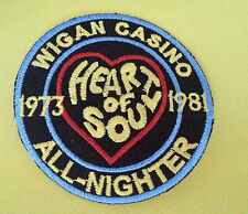 NORTHERN SOUL SKA MUSIC SEW ON / IRON ON PATCH:- WIGAN CASINO (b) HEART OF SOUL