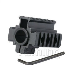 Tactical Weaver Picatinny 20mm Tri-Rail Barrel Mount For Rifle Scope Light Sight