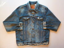 VINTAGE LEVI Acid Edged Slim Jean Trucker Denim Workwear Butch Jacket LARGE