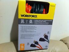 New in Box workforce 3 pack light duty indoor/outdoor extension cord combo