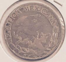 1824 MEXICO 2 REALES COIN FROM A FRESH OLD ESTATE HOARD  (YOU BE THE JUDGE !)