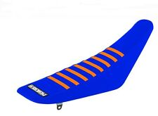 Enjoy KTM SX50 16-17 Gripper Seat Cover Blue Orange Ribs Factory Grippy Mxgp