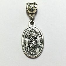 3/4 Inch Our Lady Untier Undoer of Knots Protection Medal  Catholic Silver Tone