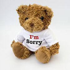 NEW - I'm Sorry Message Cute Teddy Bear - Gift To Say Sorry - I Am Sorry Present