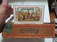 "KALAMAZOO MICHIGAN ADVERTISING CIGAR BOX "" LITTLE BEAUTIES "" E. GOLDBERG c1910"