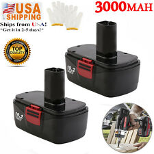 2X 3000mAh 19.2volt Battery DieHard Compact for Craftsman C3 11375 130279005 MAY