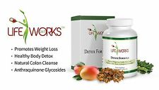 LifeWorks 24/7 Colon & Liver Cleanse Detox Vegan Caps | Weight Loss & Energy