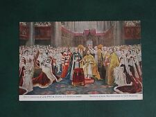 ORIGINAL J. S. FRY & SONS ADVERTISING POSTCARD - GEORGE V CORONATION - CHOCOLATE