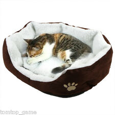 Pet Dog Puppy Cat Coffee Bed House Nest Mat Pad Cozy Soft Warm Fleece