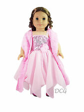 DB LITTLE MISS DREAMER OUTFIT Dress for American Girl Dolls Pink Sequin Shawl