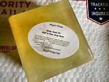 Hemp Seed Oil Soap Melt & Pour Soap Base-5% unrefined Hemp oil in Olive Oil Base