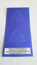 2 x Triquetra Pagan face painting stencils reusable Wiccan gothic Halloween
